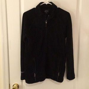 Super plush black fleece full zip pockets